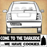 """Come to the Darkside ...We have cookies."" Bumper Sticker"