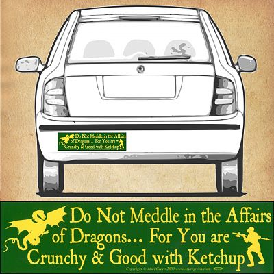 """Do Not Meddle…"" Bumper Sticker"