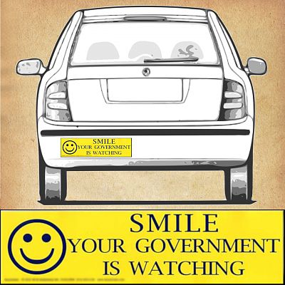 """Smile - Your Government Is Watching"" Bumper Sticker"