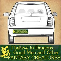 """I Believe in Dragons…"" Bumper Sticker"