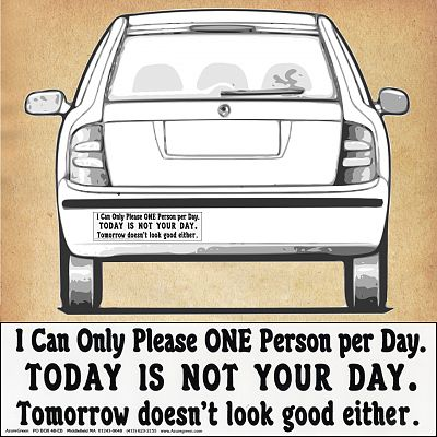 """I can only please ONE person…"" Bumper Sticker"