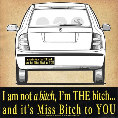 """I'm THE bitch…"" Bumper Sticker"