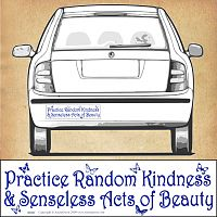 """Practice Random Kindness & Senseless Acts of Beauty"" Bumper Sticker"