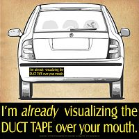 """I'm already visualizing…"" Bumper Sticker"