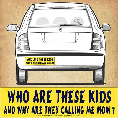"""Who Are These Kids…"" Bumper Sticker"