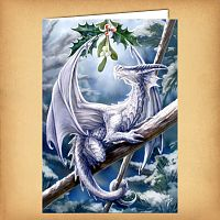 Snow Dragon Yule Card