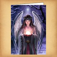Yuletide Angel Christmas Card