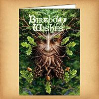 Oak King Birthday Card