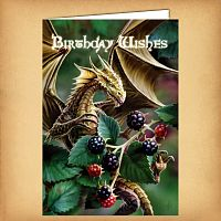 Blackberry Dragon Birthday Card