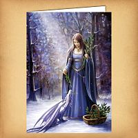 Solstice Gathering Christmas Card