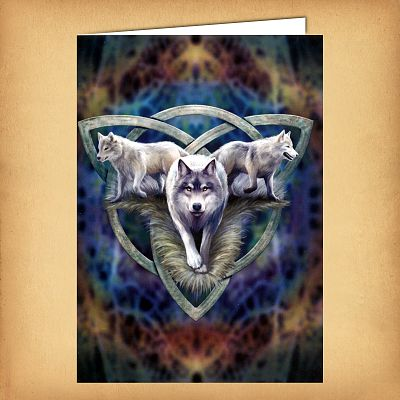 Wolf Trio Greeting Card