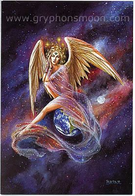 Mercurial Angel Greeting Card