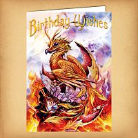 Phoenix Birthday Card