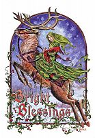Bright Blessings Yule Card - Yule & Christmas Cards