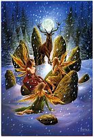Yule Stag Greeting Card