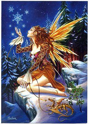 Yule Fairy Greeting Card Yule Fairy