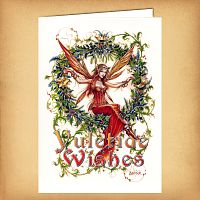 Mistletoe Fairy Christmas Card