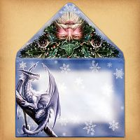 Night Before Yule Christmas Card