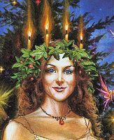 Lady of Lights Greeting Card