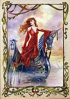 Lady of the Mists Greeting Card