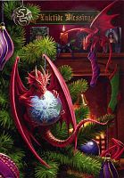 Little Helpers Greeting Card - Here Be Dragons!, Yule & Christmas Cards