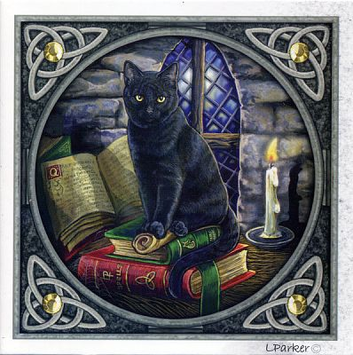 Cat and Books Greeting Card - Greeting Cards, Cats
