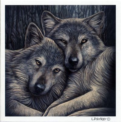 Loyal Companions Greeting Card - Greeting Cards, Wolves