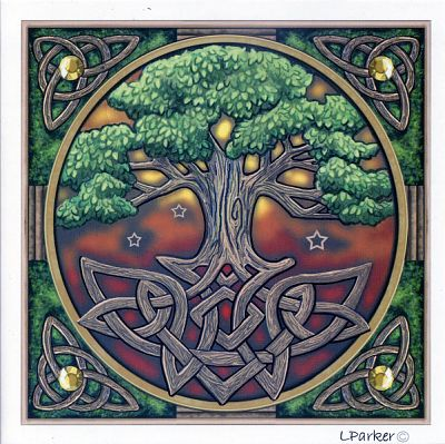 Tree of Life Greeting Card - Greeting Cards, Trees & Greenman