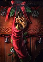 Magical Arrival Greeting Card - Here Be Dragons!, Yule & Christmas Cards