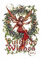 Mistletoe Fairy Yule Card - Yule Cards by Briar, Fairies, Christmas in July, Yule & Christmas Cards