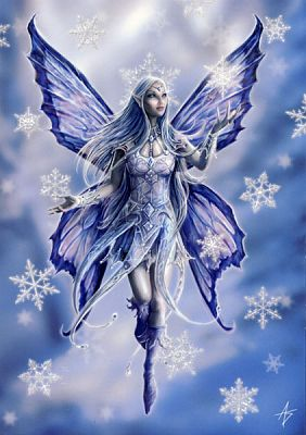 Snowflake Fairy Greeting Card - Yule & Christmas Cards