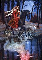 The Journey Greeting Card - Greeting Cards, Wolves, Horses, Unicorns