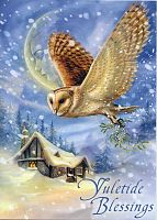 Snow Bringer Greeting Card - Yule & Christmas Cards, Owls