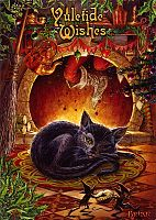 Night Before Yule Greeting Card - Cats, Yule & Christmas Cards