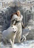 Winter Guardians Greeting Card - Yule & Christmas Cards, Wolves