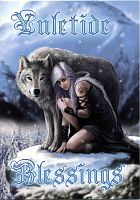 Winter Protector Yule Card - Wolves, Yule & Christmas Cards