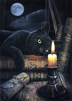 Witching Hour Greeting Card - Cats, Greeting Cards
