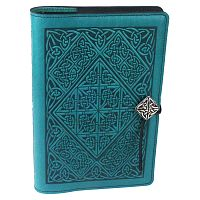 Large Diamond Knotwork Leather Journal - Journals & Pens, Leather Bound Journals