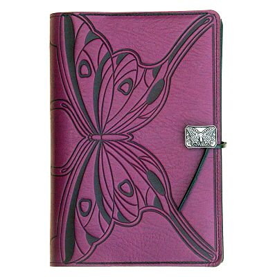Large Butterfly Leather Journal
