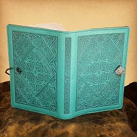 Celtic Diamond Leather Journal