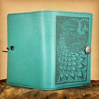 Peacock Leather Journal