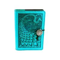 Small Peacock Leather Journal