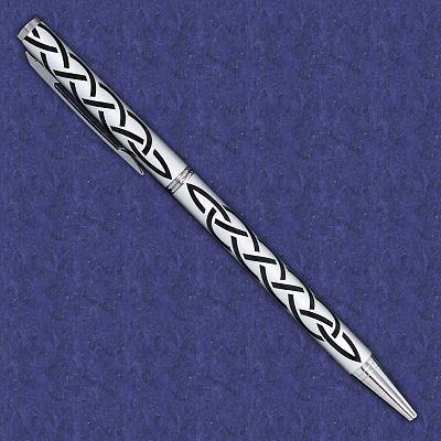 Black on Silver Celtic Knot Pen