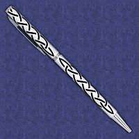Black on Silver Celtic Knot Pen - Celtic Pens, Journals & Pens