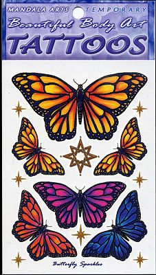 Butterfly Sparkles Temporary Tattoos - Temporary Tattoos, Butterflies and Dragonflies