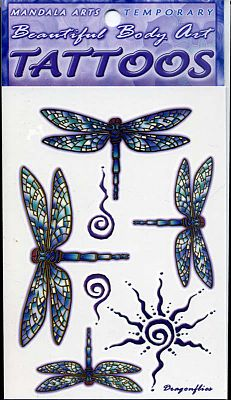 Dragonflies Temporary Tattoos - Temporary Tattoos, Butterflies and Dragonflies