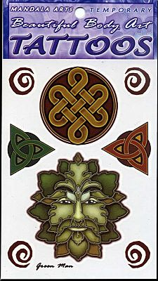 Greenman Temporary Tattoos - Temporary Tattoos, Trees & Greenman
