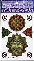 Greenman Temporary Tattoos