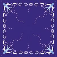 Moon Goddess Altar Cloth - Altar Cloths, Moons & Stars, Goddess, Celtic Scarves, Gifts for the Proud Pagan, Stars