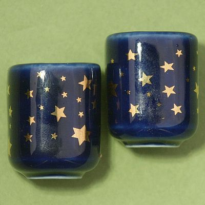 Pair of Gold Stars Mini Candle Holders